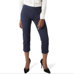 Betabrand Crop Dress Pant Navy Blue